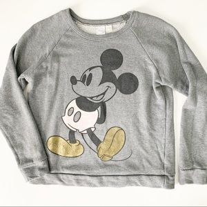Disney Pink Mickey Mouse Terry Sweatshirt Small